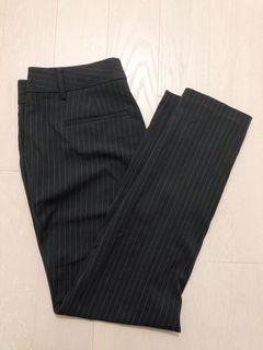 Black And White Striped Pencil/Dress Pants