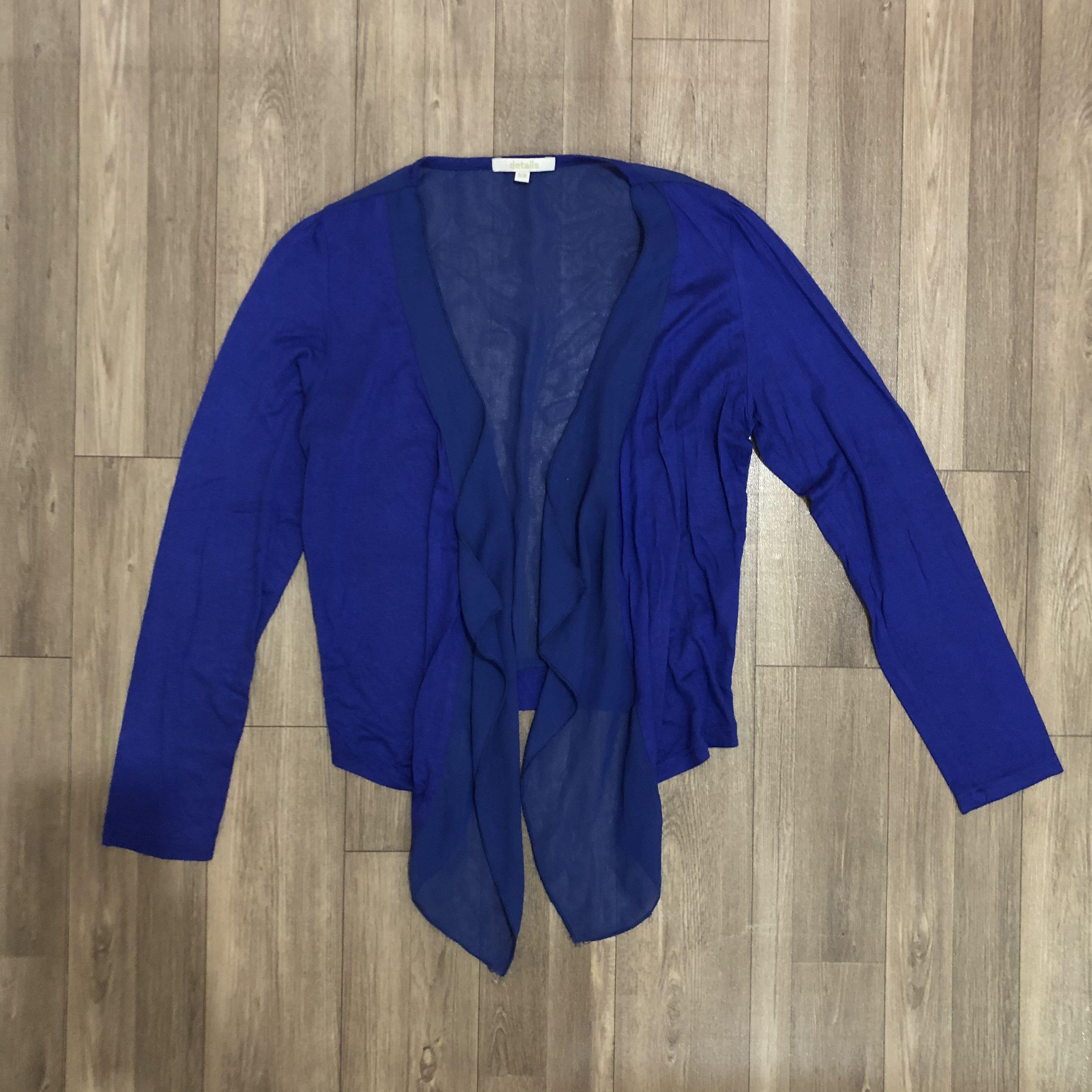 Blue electric neon cardigan outer