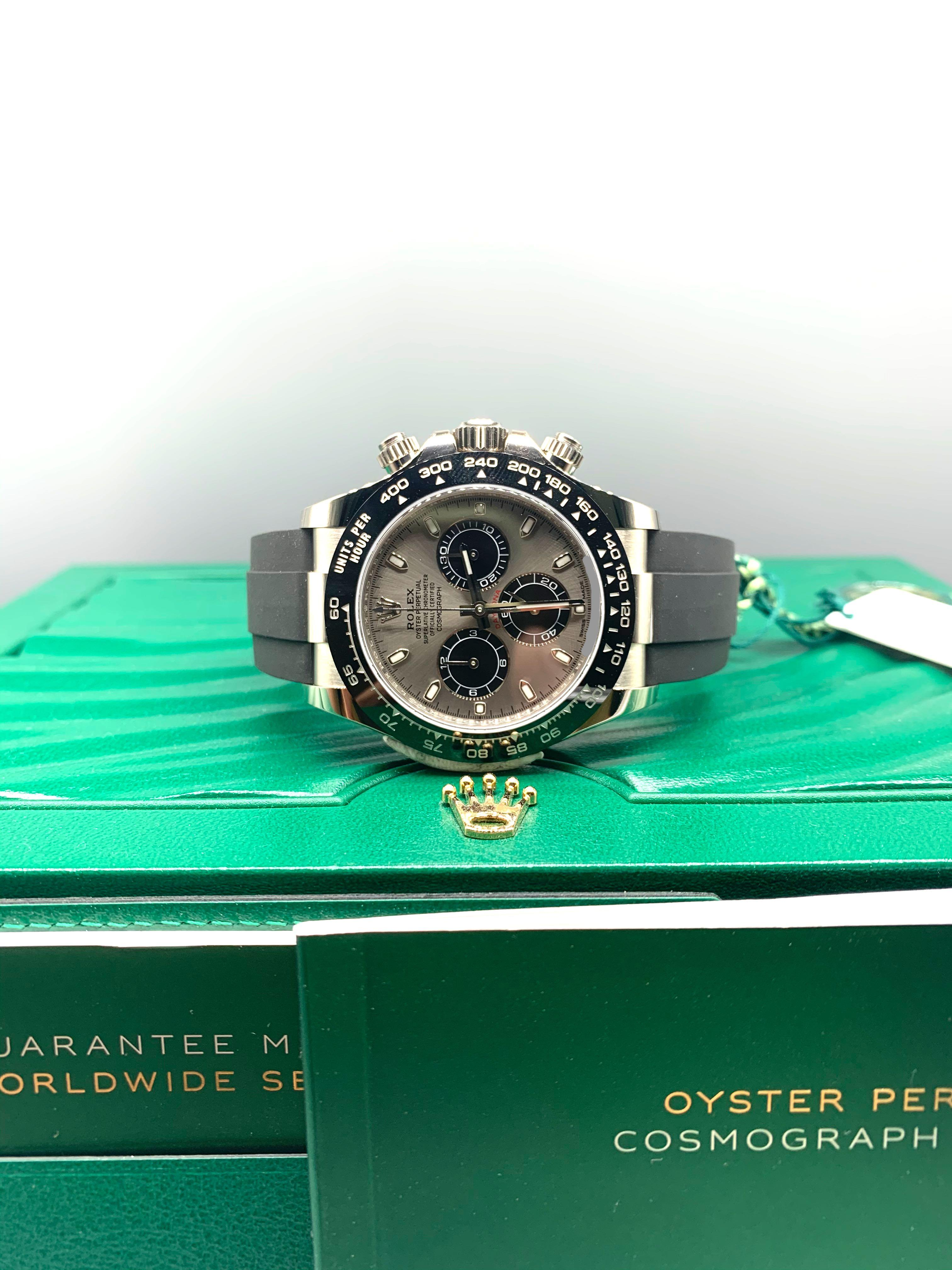Brand New Rolex DAYTONA Solid White Gold Oyster Flex 116519LN Full Set