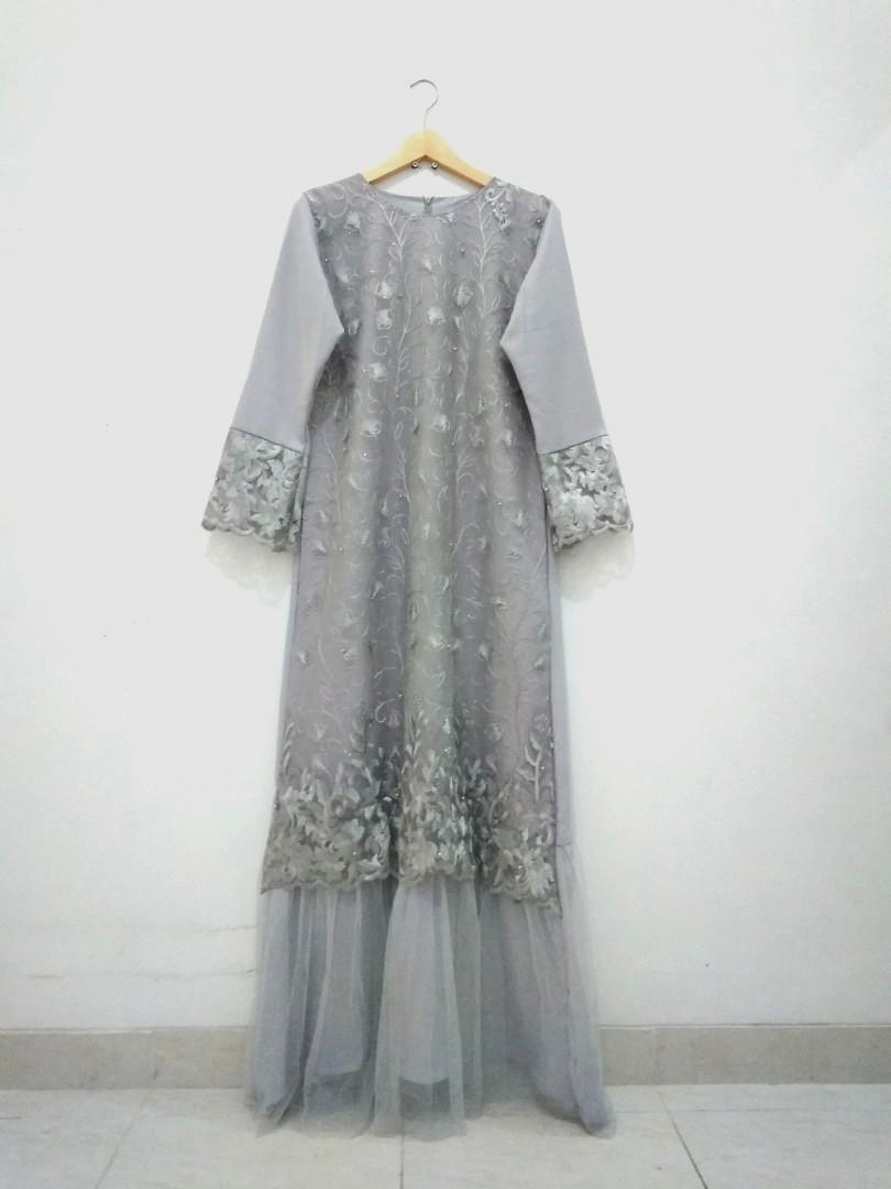 Brokat Dress Gamis Pesta Butik / Longdress Brukat