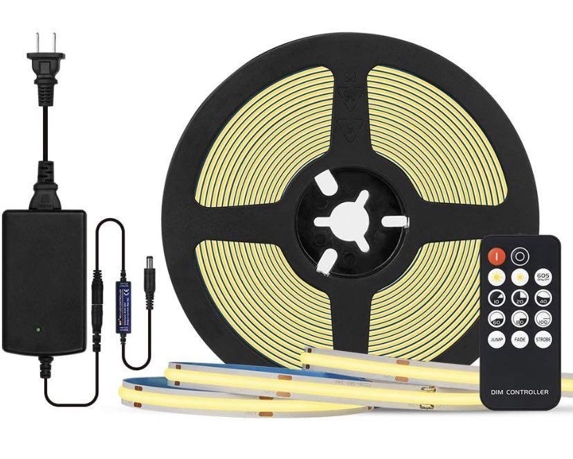 BTF-LIGHTING FCOB 24V Kit Flexible High Density LED Lights 16.4Ft RF14 Keys dimmable