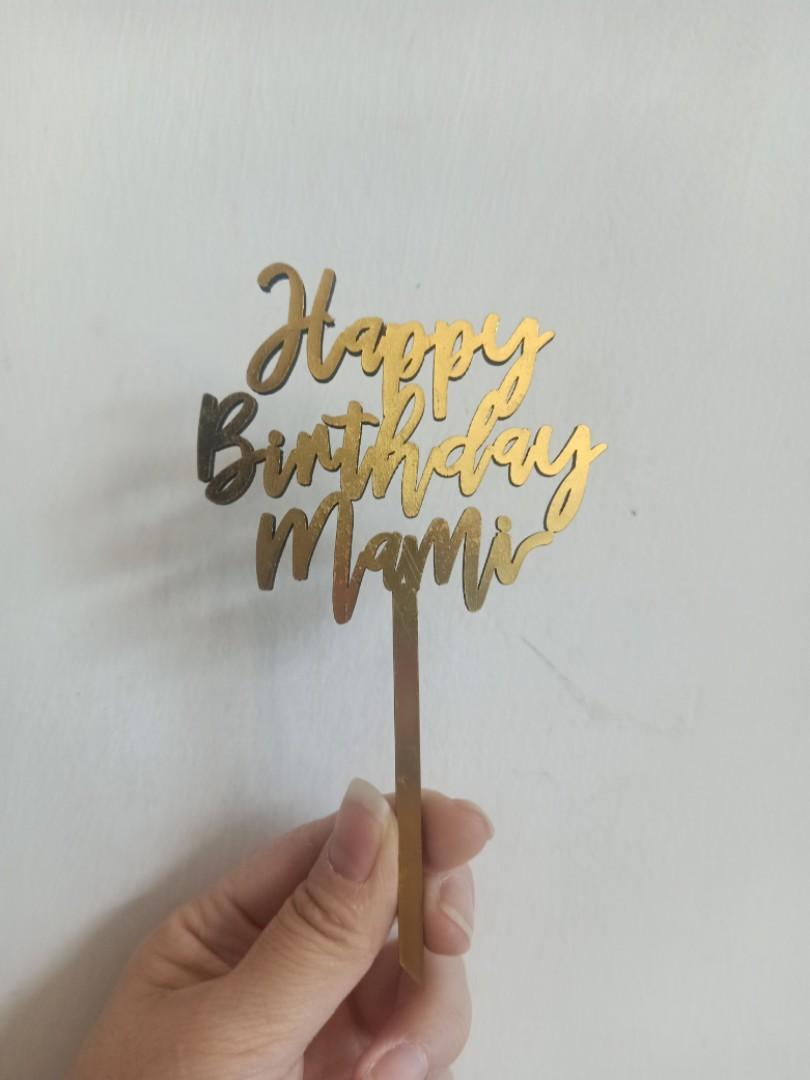 "Cake Topper ""Happy Birthday Mami"""