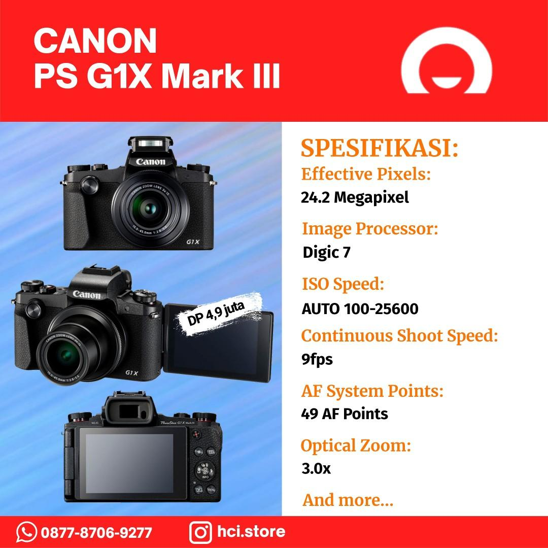 CANON PS G1X Mark III - Kredit Datascript Kemayoran