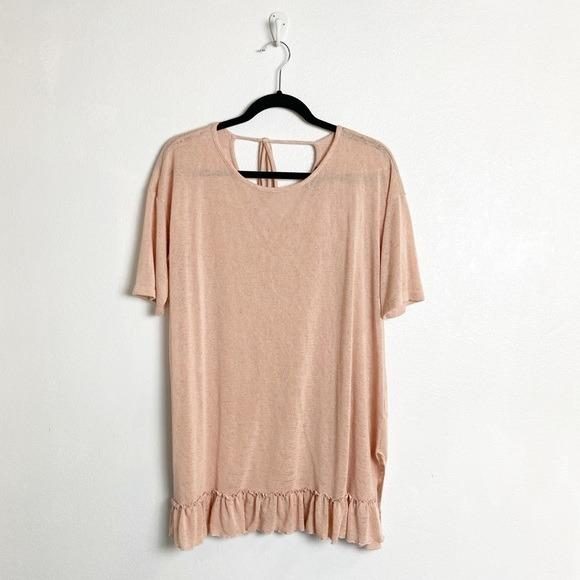 #carousell99 Blouse Pink Peplum - Young At Heart