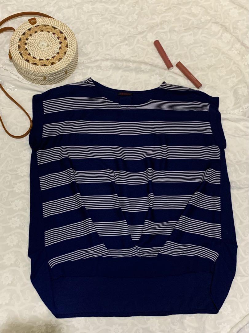Cavalier blouse navy bigsize