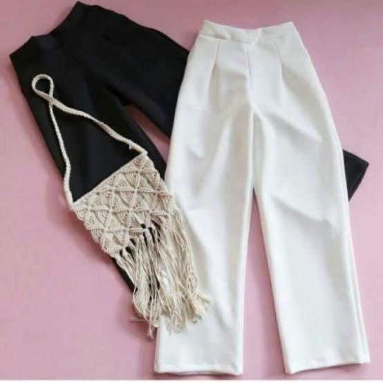 Celana Kulot Scuba Putih