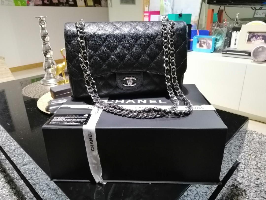 Chanel caviar Jumbo bag double flap classic bag