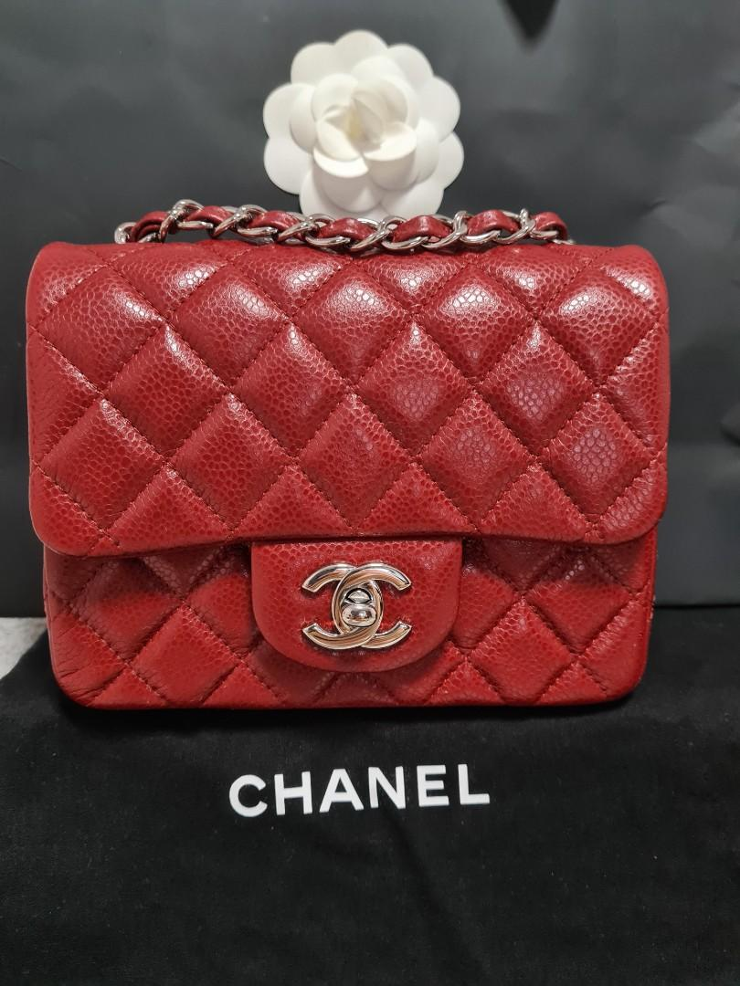 Chanel Red Caviar Square Mini