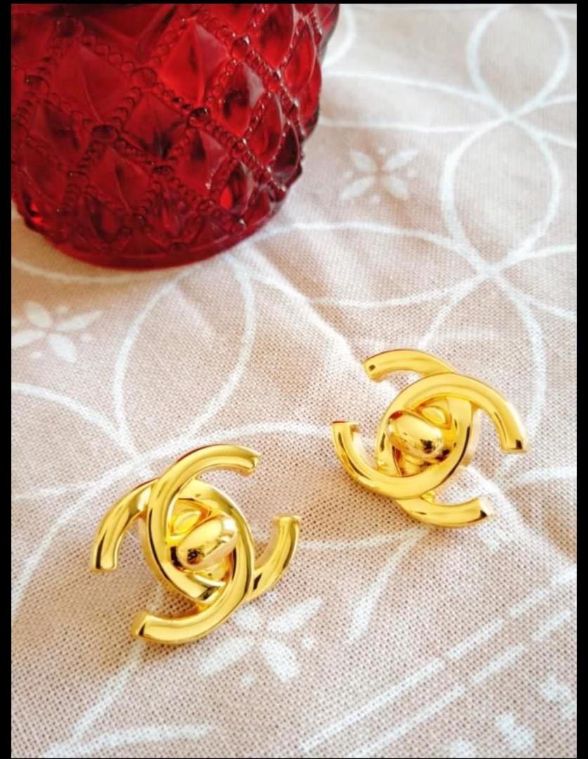 香奈兒chanel vintage 明星款耳環❤保證正品❤