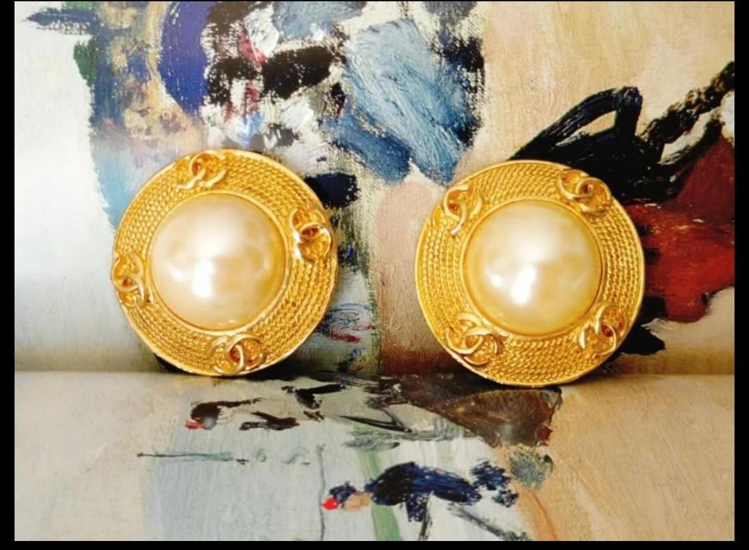 Chanel 香奈兒vintage 珍珠耳環
