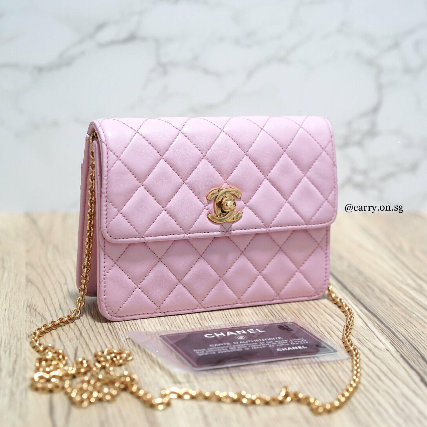 Chanel Vintage Mini Half Flap Crossbody Bag