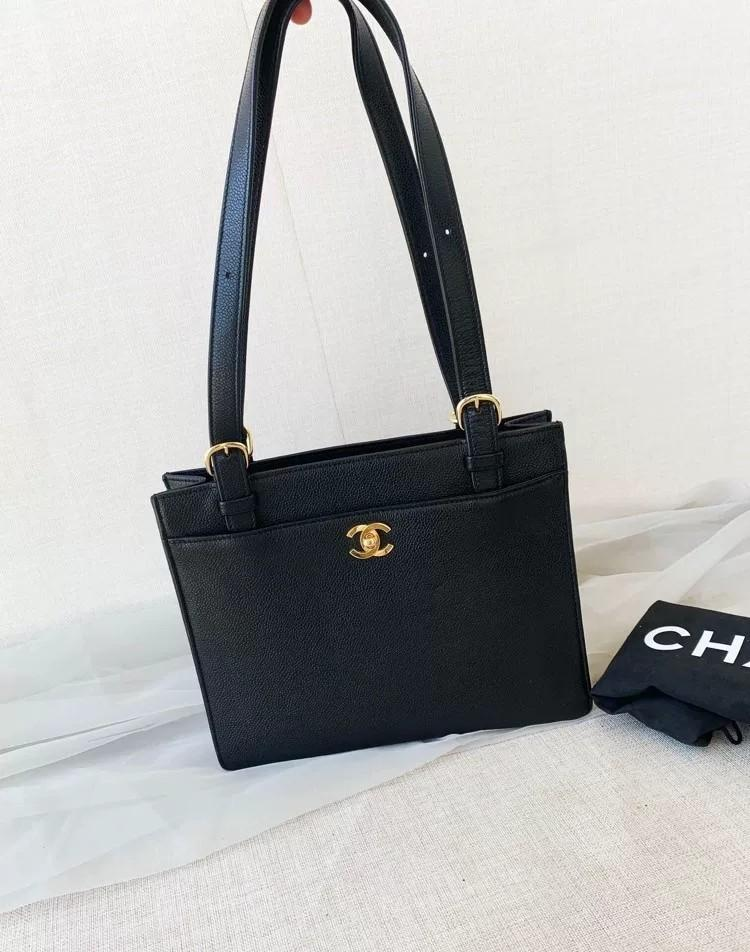 Chanel Vintage Shoulder Bag in Black