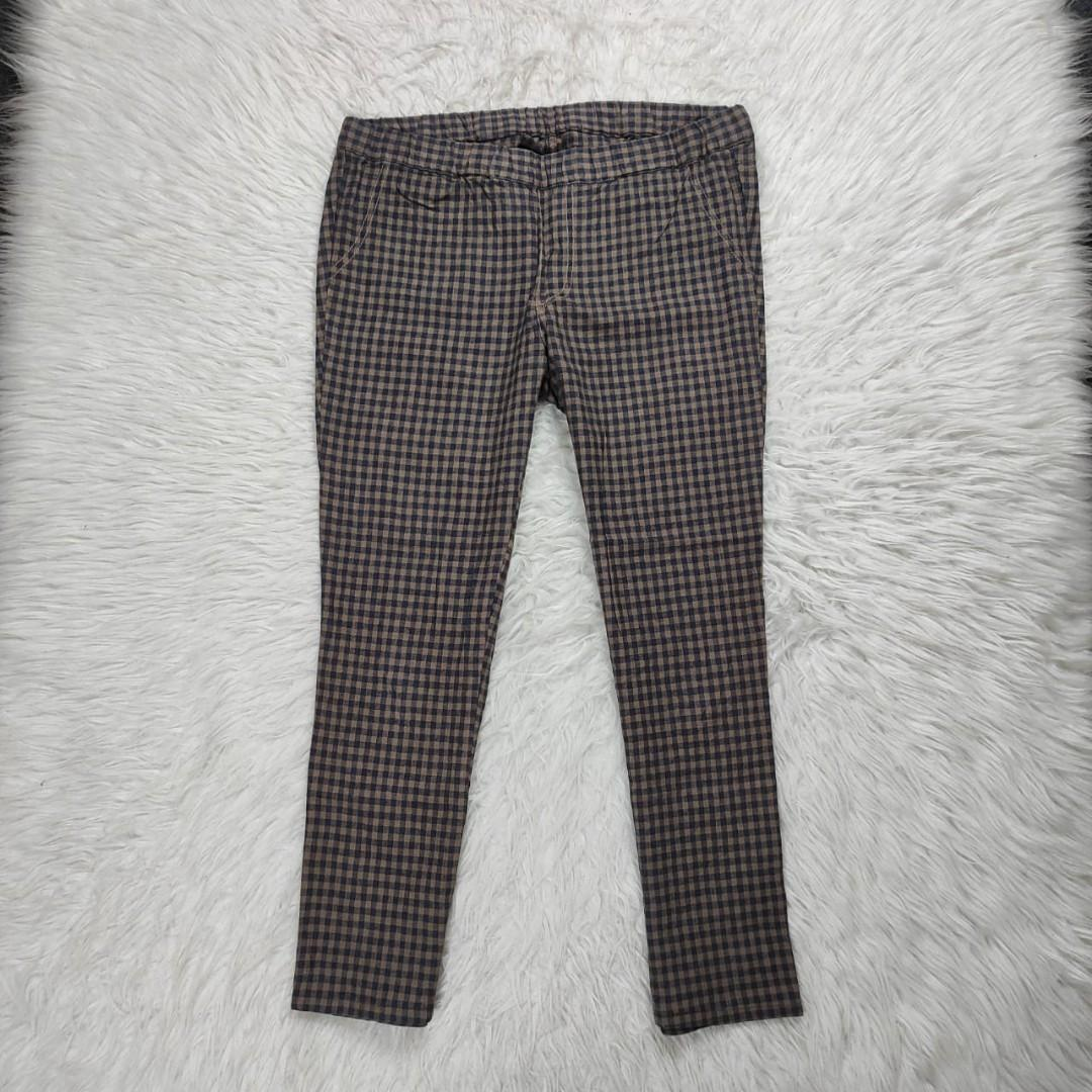 Checkered Pants cotton Cropped