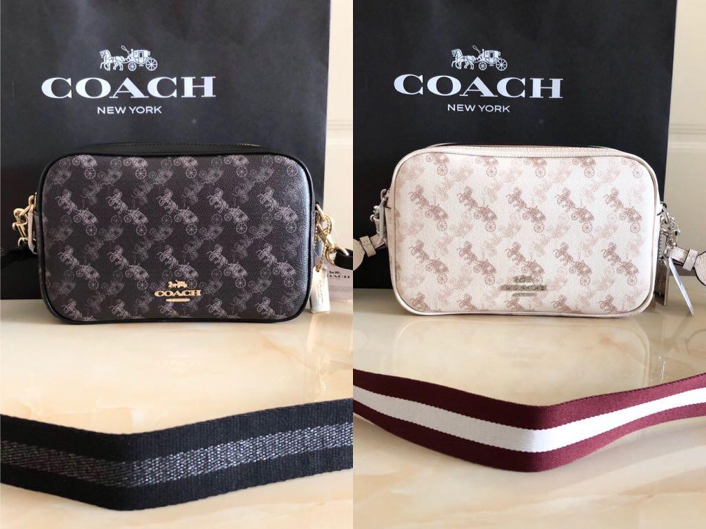 Coach Printed camera bag handbag double zipper slingbag
