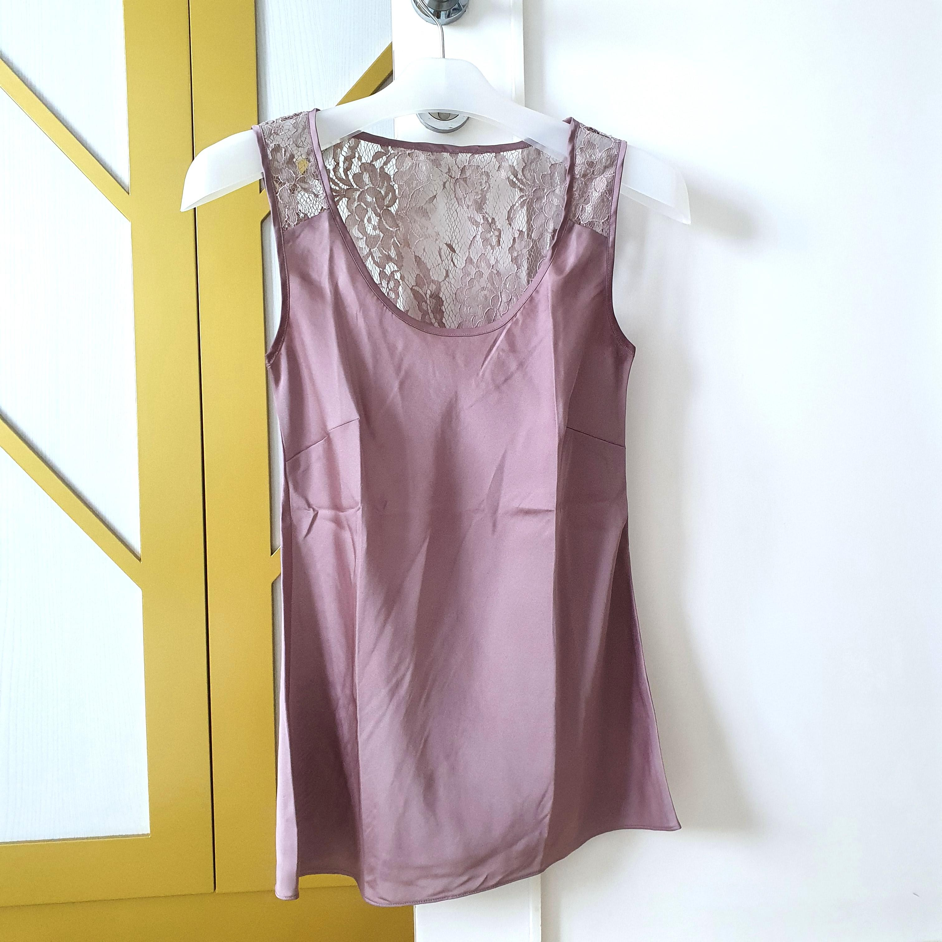 Coast lavender silk top