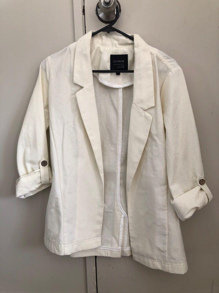 Cotton On White blazer