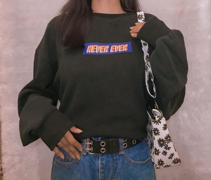 Crewneck oversize NEVER EVER