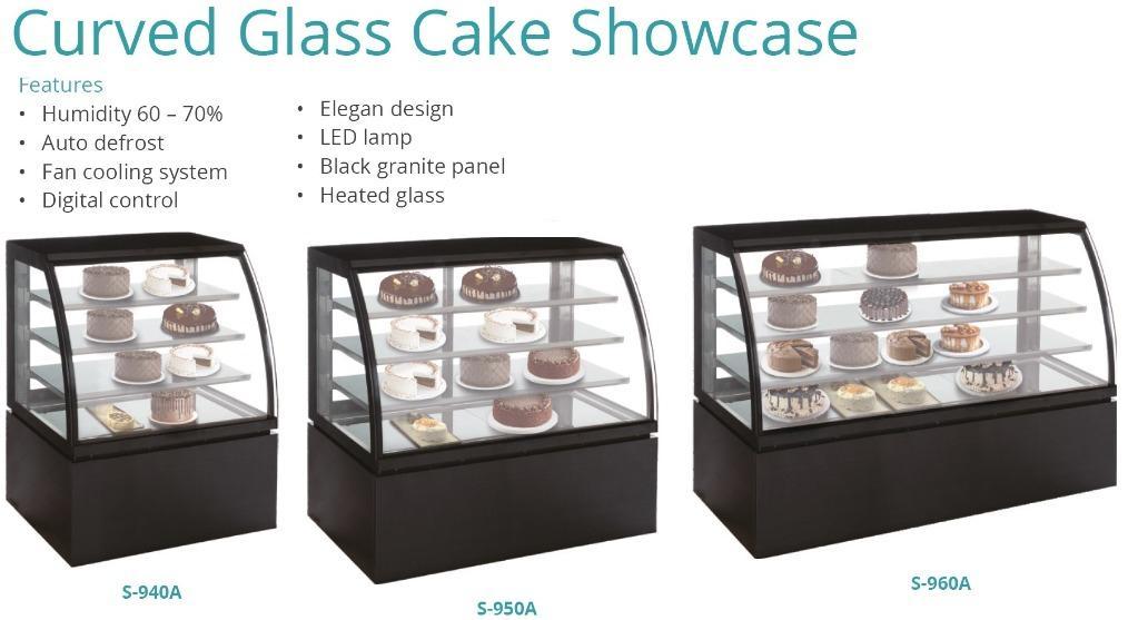 CURVE GLASS CAKE SHOWCASE(S-950A)