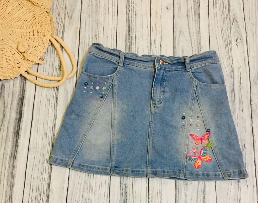 Denim Skirt Anak (Rok Jeans Anak Mariposa)
