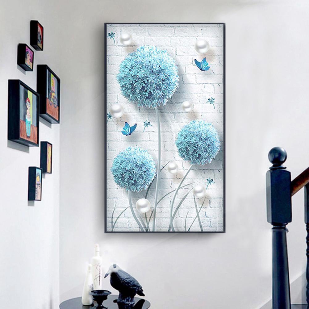 DIY Diamond Painting Hiasan Dinding Dandelion Tosca