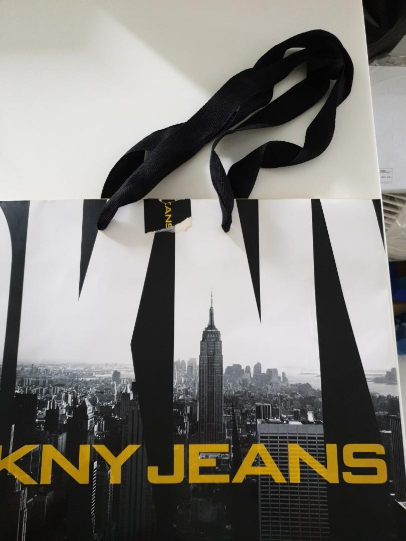 DKNY Jeans Paper Bag  large