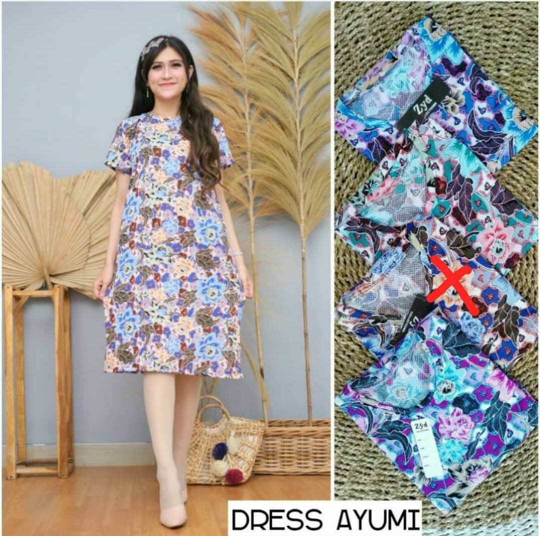 Dress ayumi motif cantik murah