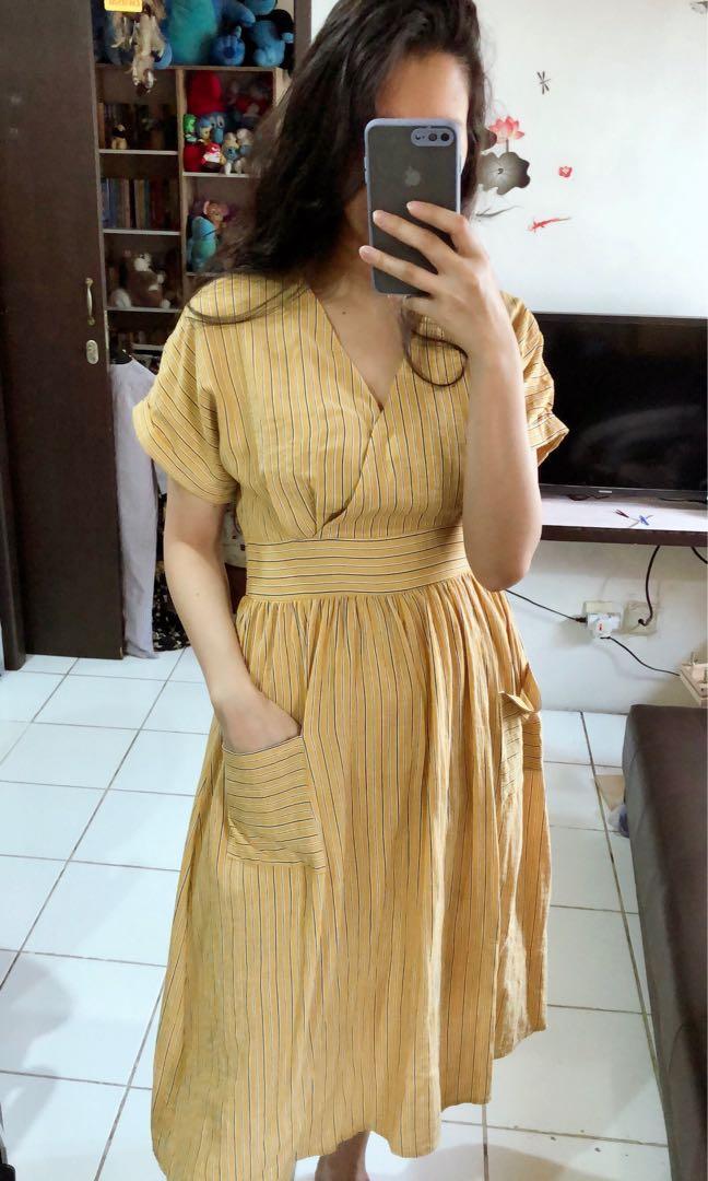 Dress kuning liris #promodressaja