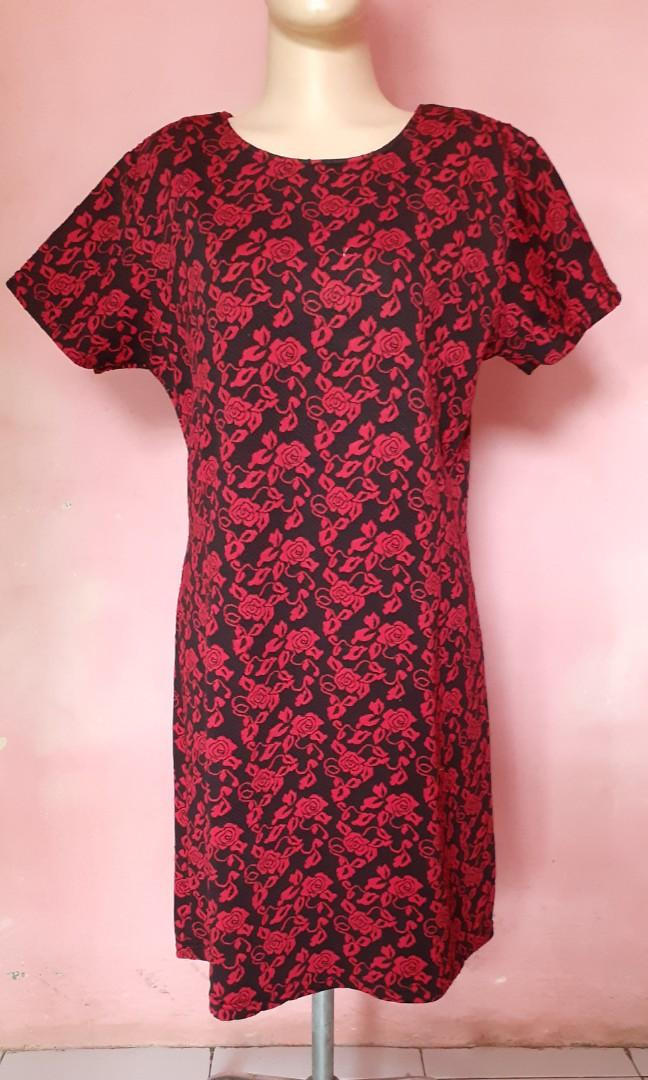 Dress Motif Bunga Mawar