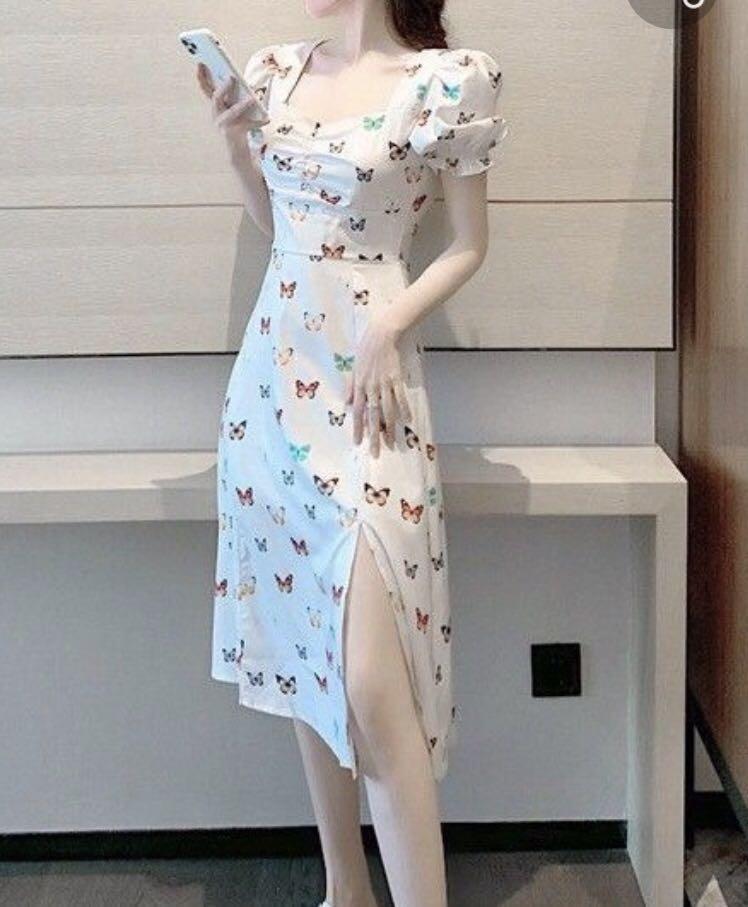 Dress putih kupu-kupu / butterfly