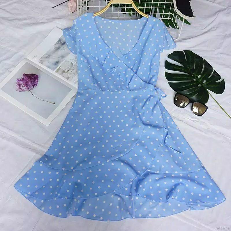 Dress Sifon model ruffle