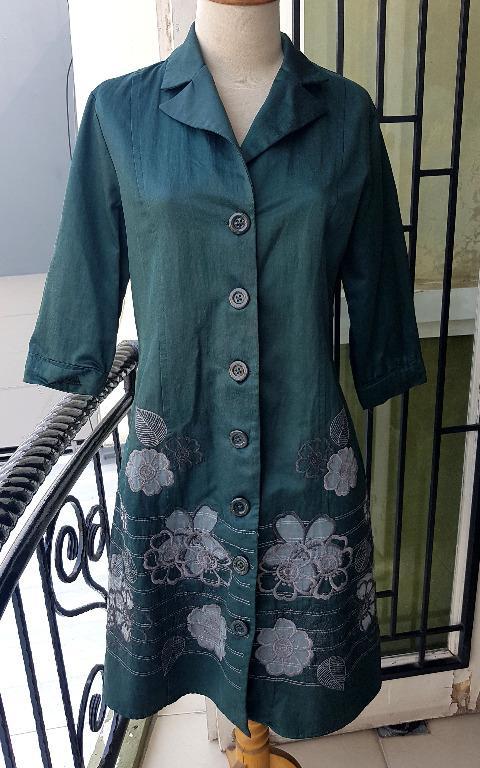 dress xl hijau