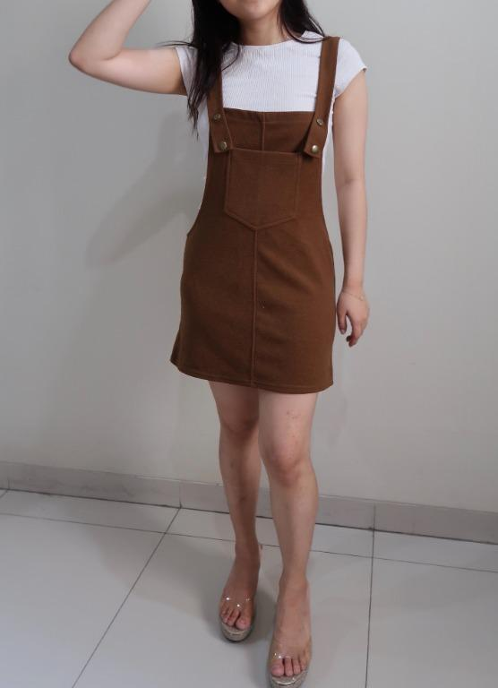 Fashion Womens Suspender Skirts Rompers / Baju Kodok Rok