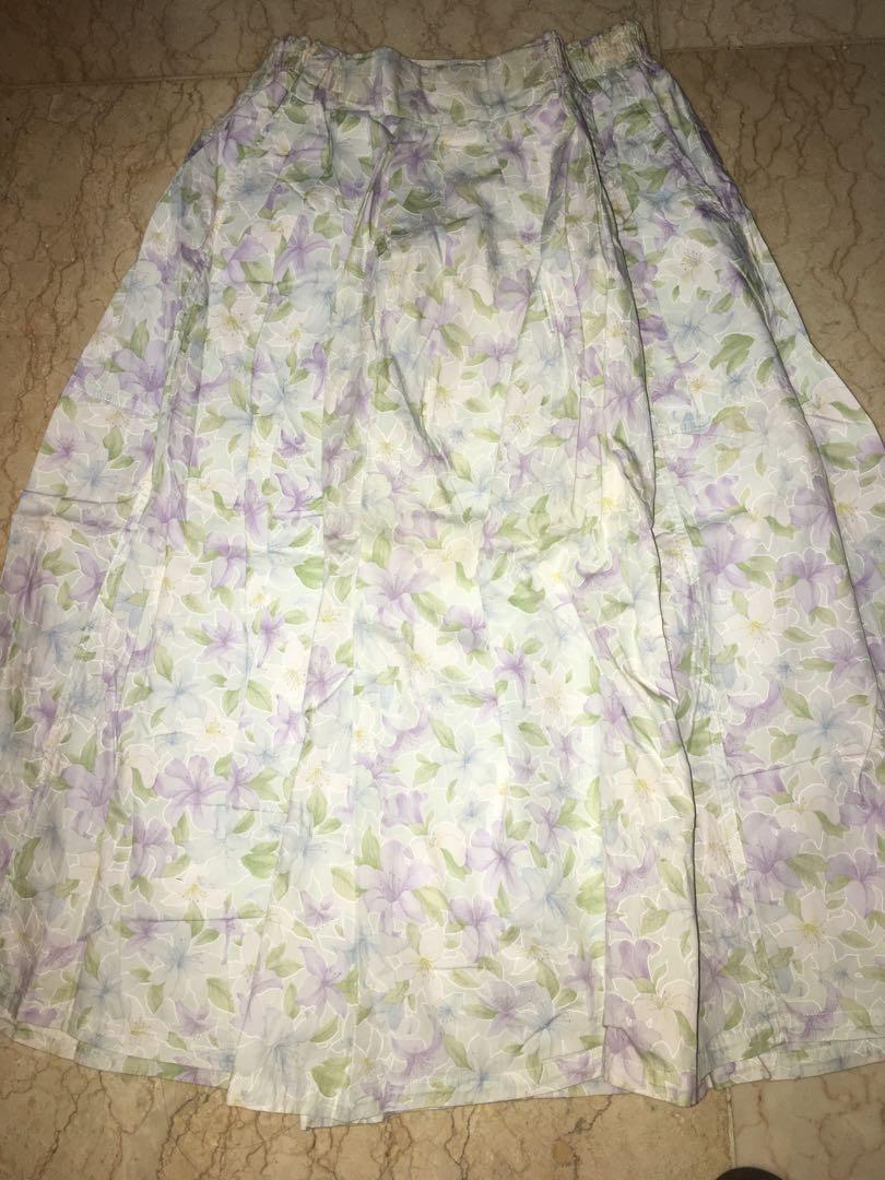 Floral skirt rok bunga vintage