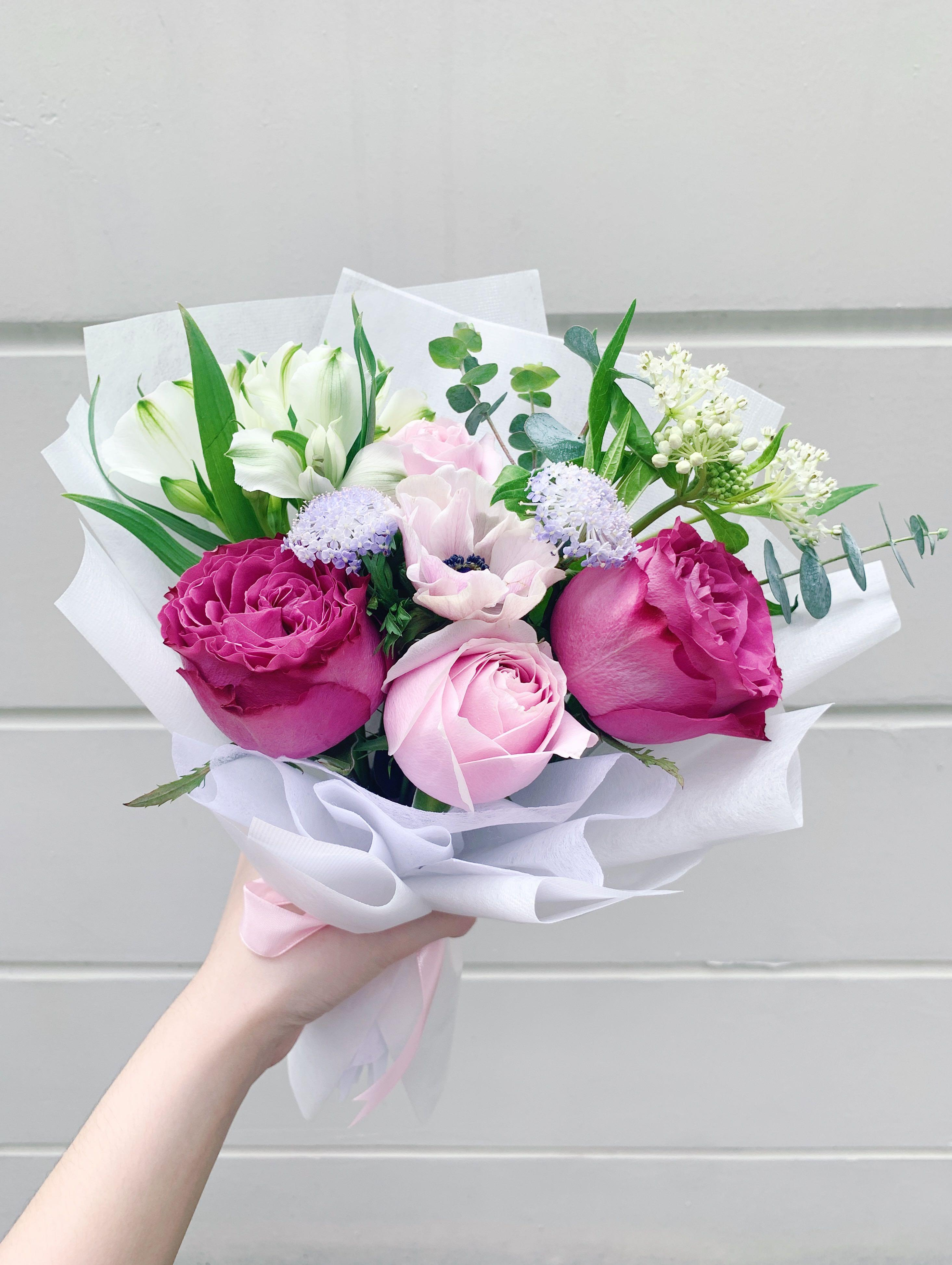 (Free same-day delivery) Princess Tamako Rose Bouquet   Fresh Flowers