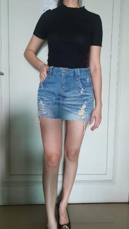 Gaudi Denim Mini Skirt / Rok mini
