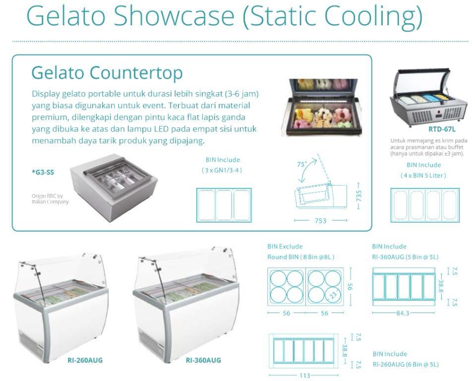 GELATO SHOWCASE(STATIC COOLING) Rl-260AUG
