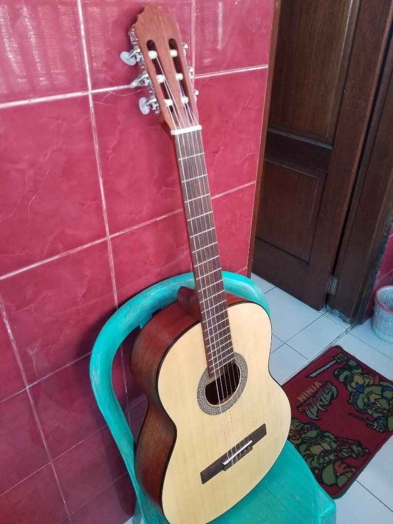 gitar acoustic classic nylon cort ac100 op original limited edition