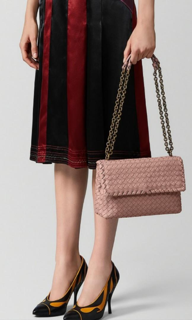 Gorgeous blush pink Bottega Veneta Medium Olimpia bag
