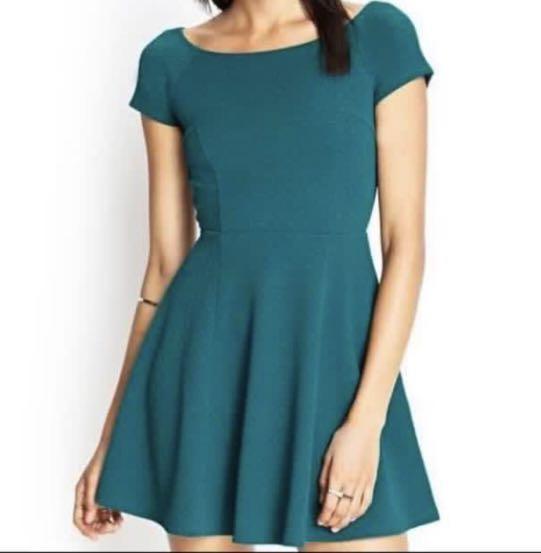 Green Dress Forever 21 #promodressaja