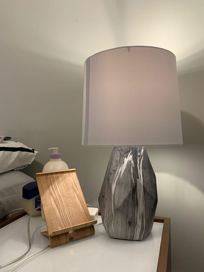 Grey Marble Lamp from Winners