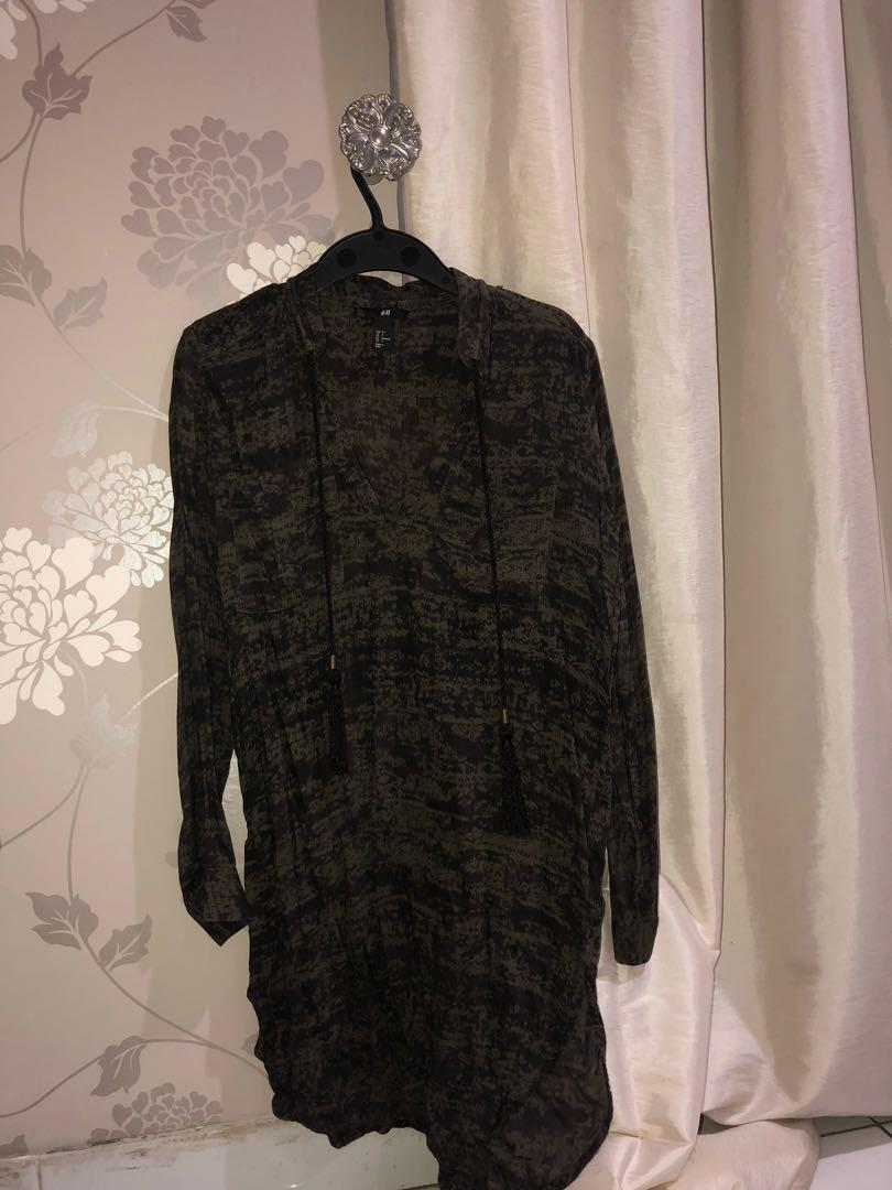 H & M Shirt Dress with Tussle