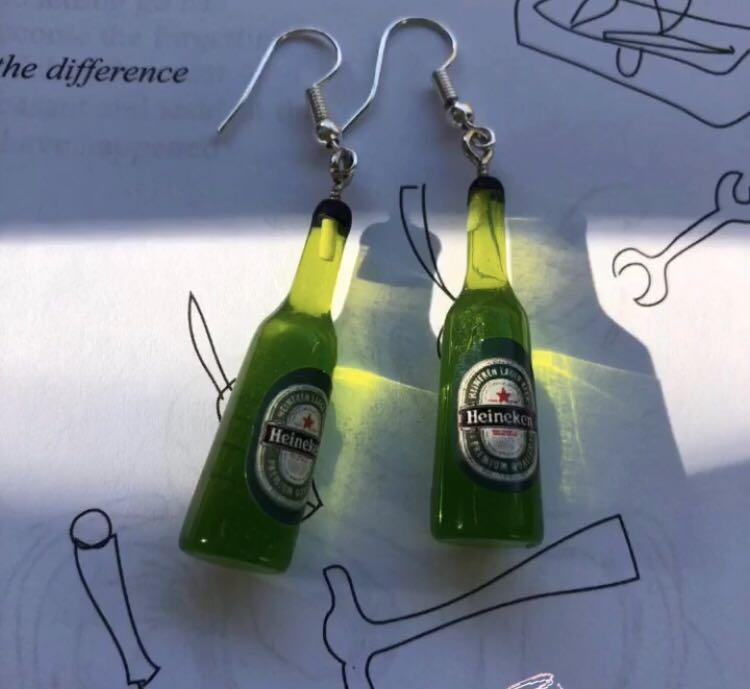 Handmade Beer Bottle Earrings