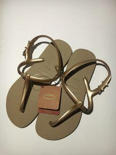 HAVAIANAS FREEDOM ROSE GOLD SIZE 35-36