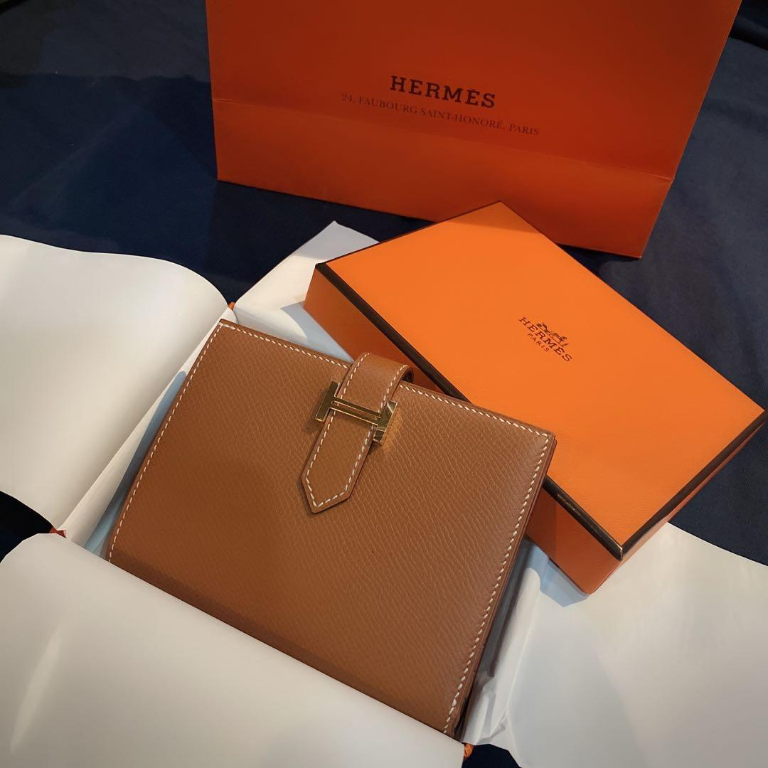 Hermes BRAND NEW Bearn compact Gold , GHW