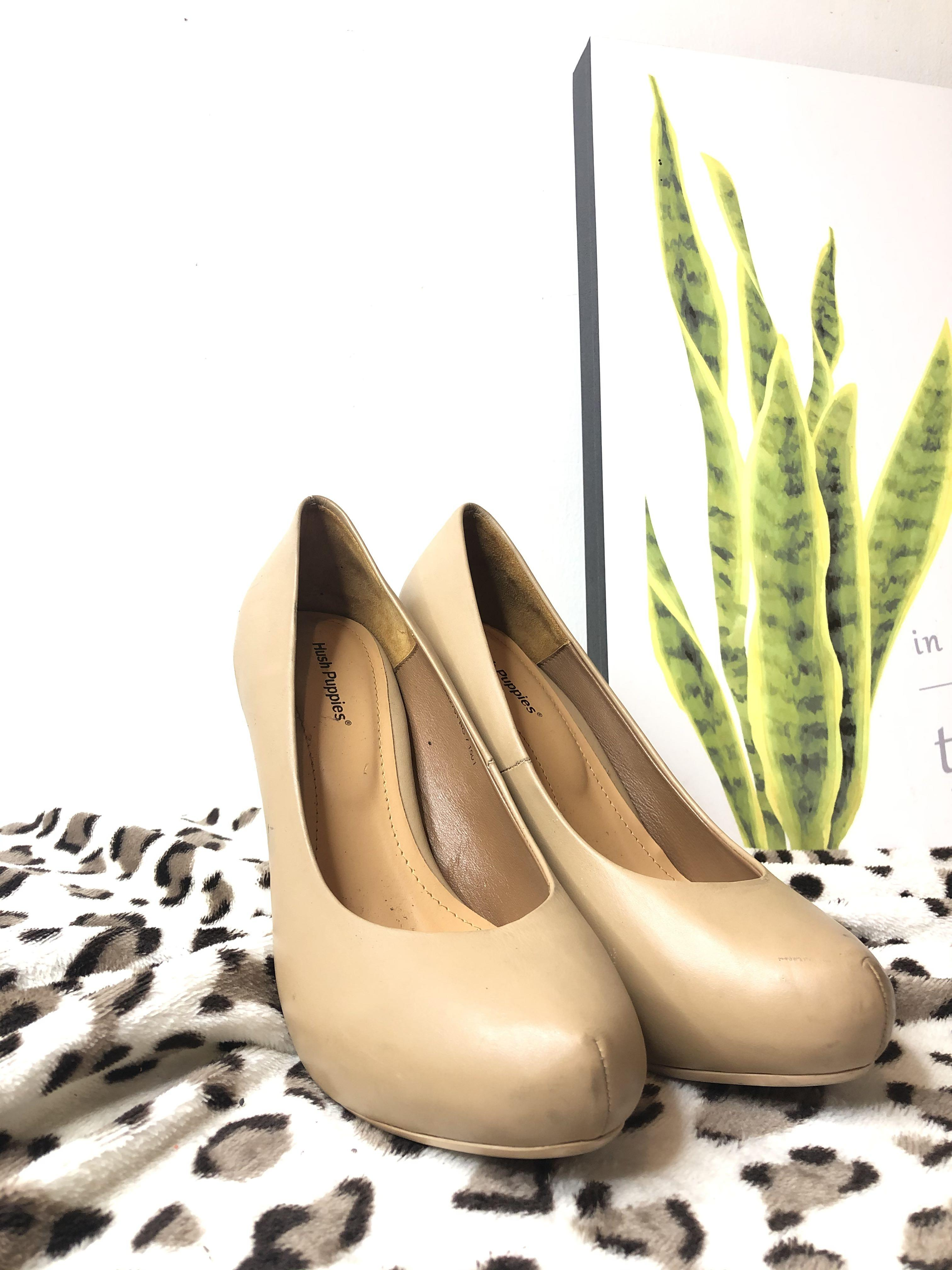 Hush Puppies Cream high heels
