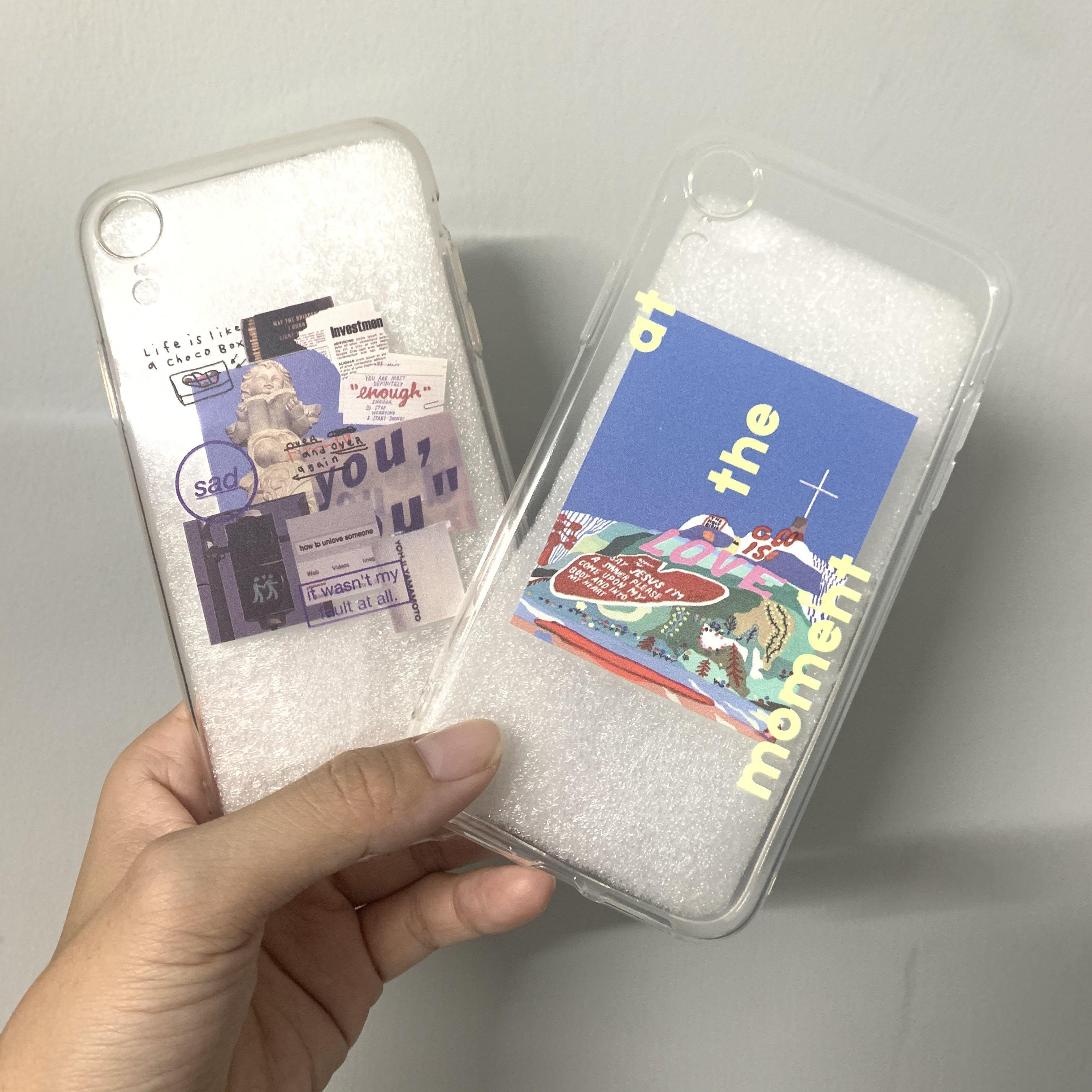 iphone XR歐美風透明手機軟殼