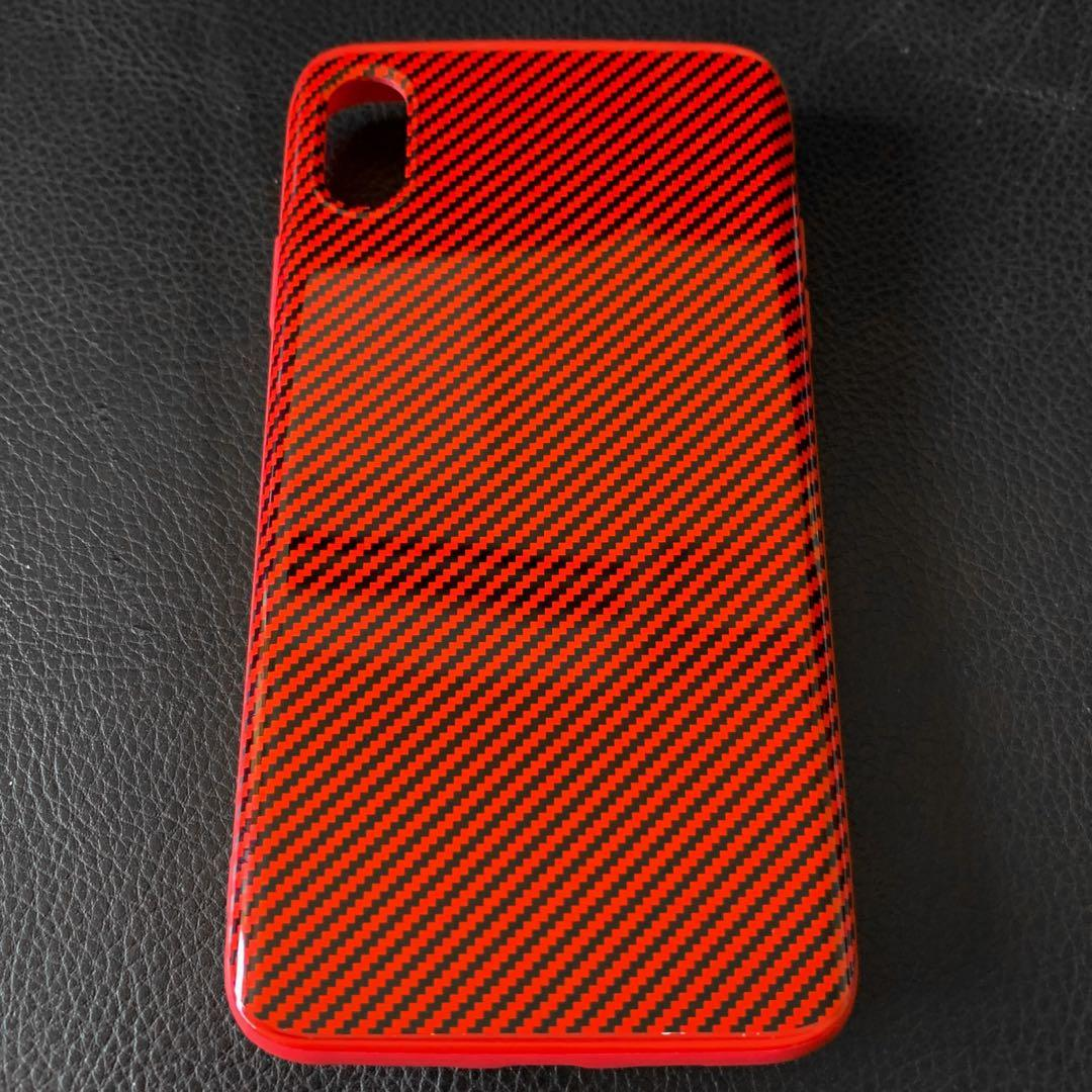 iPhone XS Max 碳纖維手機殼 / carbon case (Red)