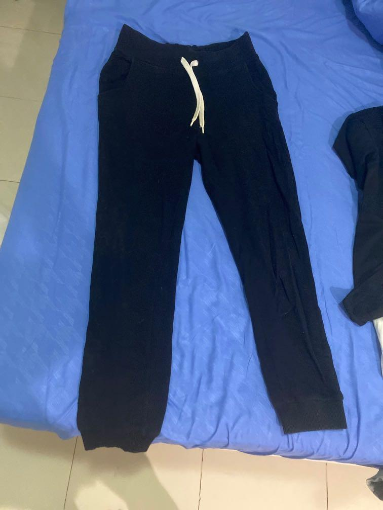 jogger h&m hitam fit to M kecil