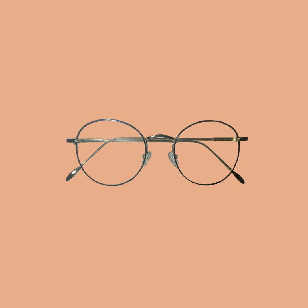 Kacamata Vintage Besi Korean Style Goldblack