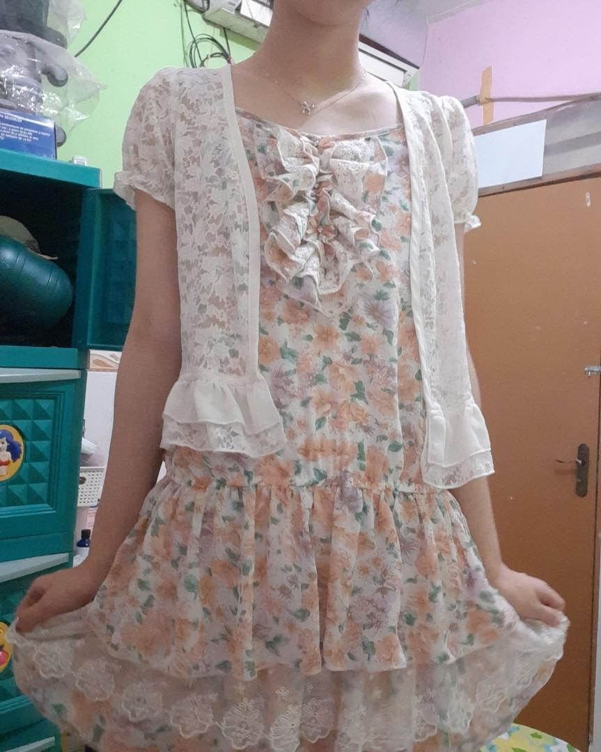 Kawaii Style Dress Pastel Floral #promodressaja
